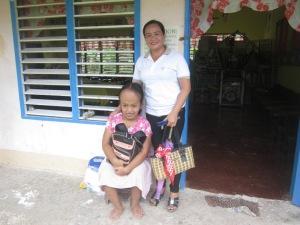 Cecellen with Teacher Elma