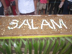 It's a Delicious Statement! Salam Means Peace.
