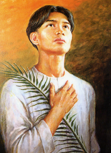 san pedro calungsod St pedro calungsod,  he and his companion fr diego luis de san vitores were martyred after baptizing the daughter of a christian woman and a non.