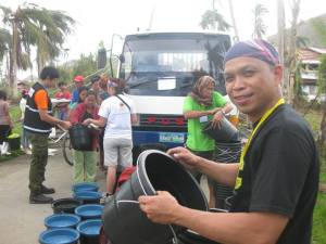 Fr. Eleno Bucia, SVD during the Relief Operations