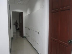 Lockers and Hall Way to the News Room
