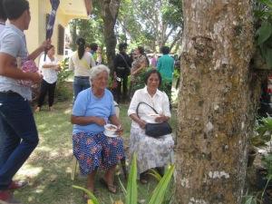 Mga Lolas having their Lunch