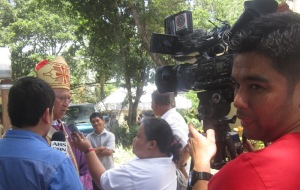 Bishop Palma was interviewed by DYRF Reporter Rowena Capistrano and ABS-CBN
