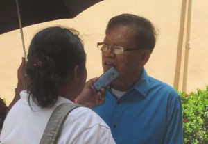 Radio personality Esteban Escudero shared her personal testimony regarding the intercession of Msgr. Camomot