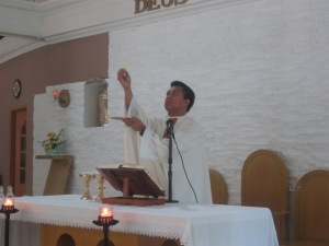 The Eucharist deepens our life with the Lord and becomes the source of strength  for our apostolic service and our union with all. (SVD Constitutions, 402)