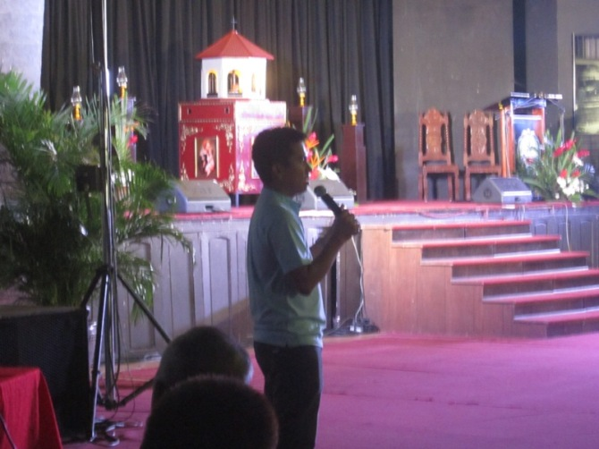 Seminarian Jonathan from the Archdiocese of Cebu