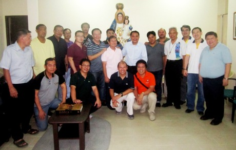 Brother Noe Dura together with the SVD Missionaries of Manila District