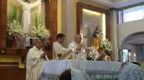 Archbishop Palma, the Presider of the Eucharistic celebration