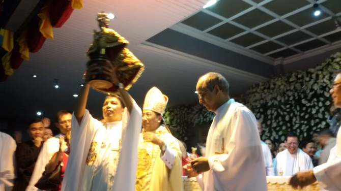 "The theme for the feast this year is ""Sto. Niňo: Source of Communion, Protector of Creation."" This theme comes from two main sources: First, the current Archdiocesan/CBCP thrust set for 2021 celebration: 2017 is dedicated to the Year of the Parish: Communion of Communities and the basic Augustinian Spirituality on Community Life. Second, the papal enclical Laudato Si' of Pope Francis."