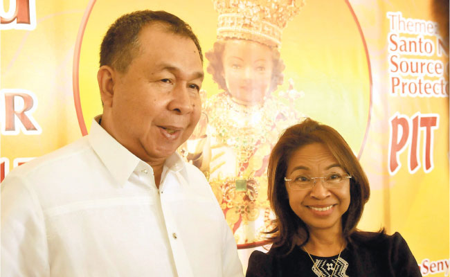 This year's Hermano and Hermana: Mr. Leo and Cristina Manguilimutan. During the press conference, there was so much kilig factor as their story of faith and devotion was shared. As devotees, they had a favorite spot at the Basilica whenever they attend Holy Masses. However, there was a time when they had a very serious fight to the point of not speaking to each other. Leo went to the Basilica to pray and attended the Holy Mass. Cristina also went to the Basilica and saw her husband right there on their favorite spot. Both of them had a change of heart.  (Photo Credits: Sun.Star Foto/Arni Aclao)
